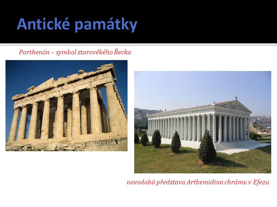 Antické památky Parthenón – symbol starověkého Řecka