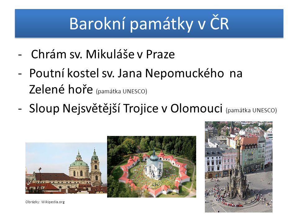 Barokní památky v ČR - Chrám sv. Mikuláše v Praze