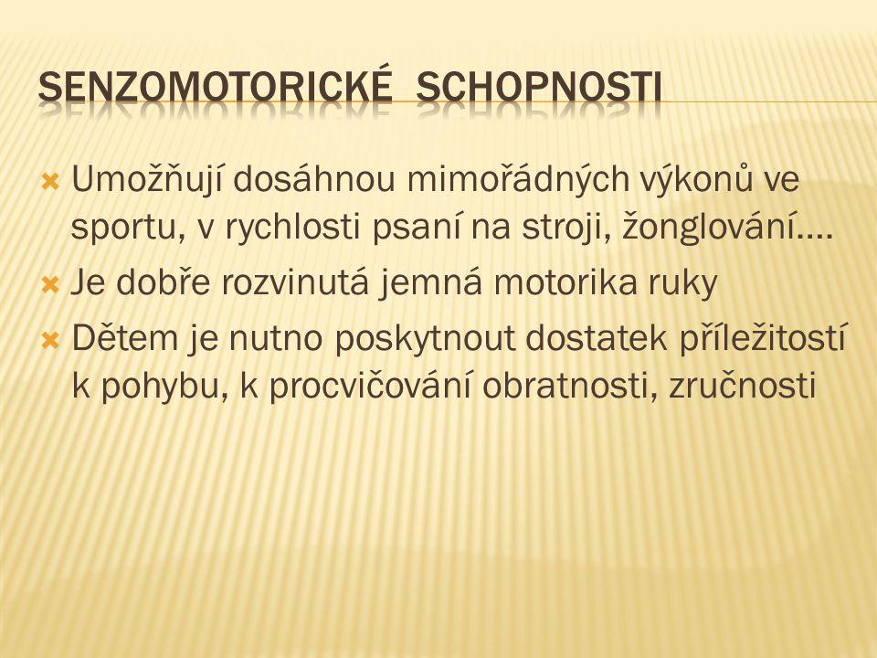 Senzomotorické schopnosti