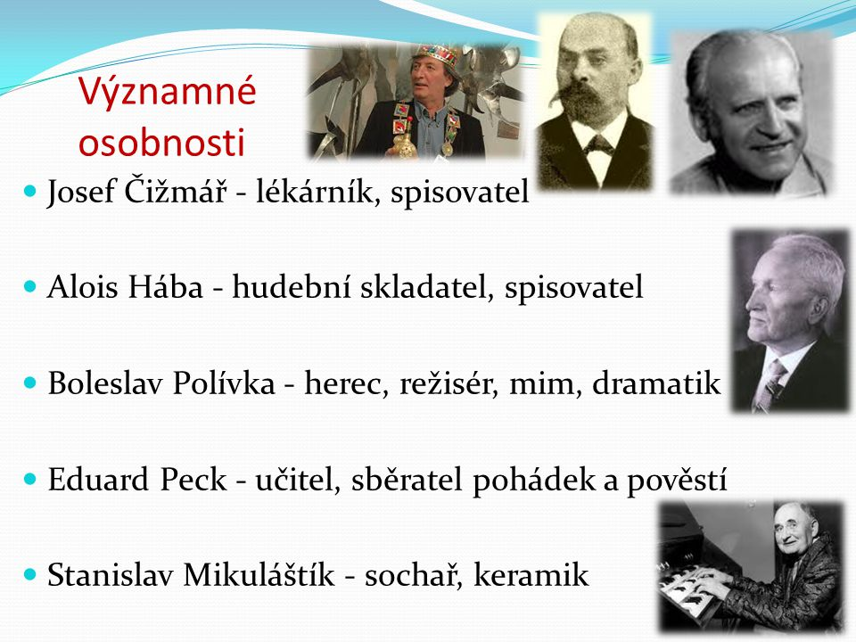 Významné osobnosti Josef Čižmář - lékárník, spisovatel