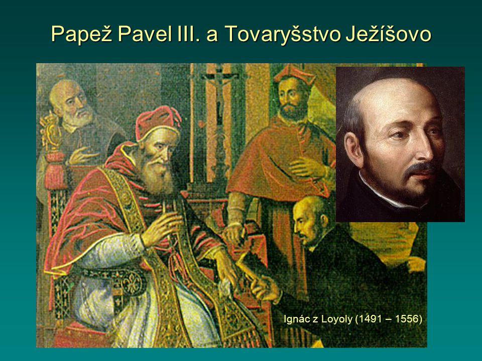 Papež Pavel III. a Tovaryšstvo Ježíšovo