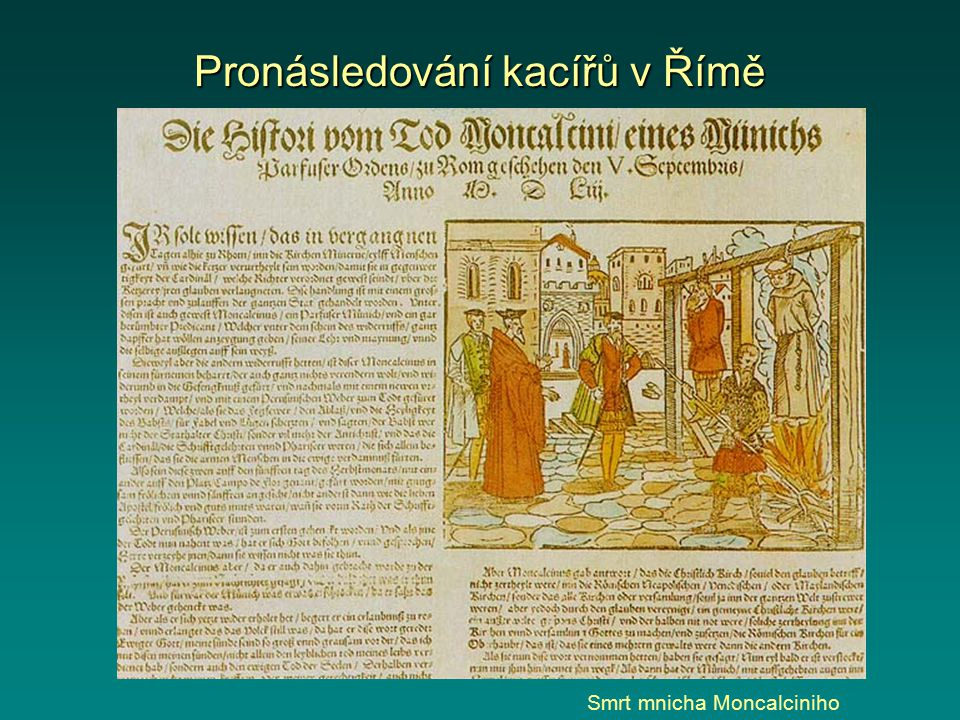 Pronásledování kacířů v Římě