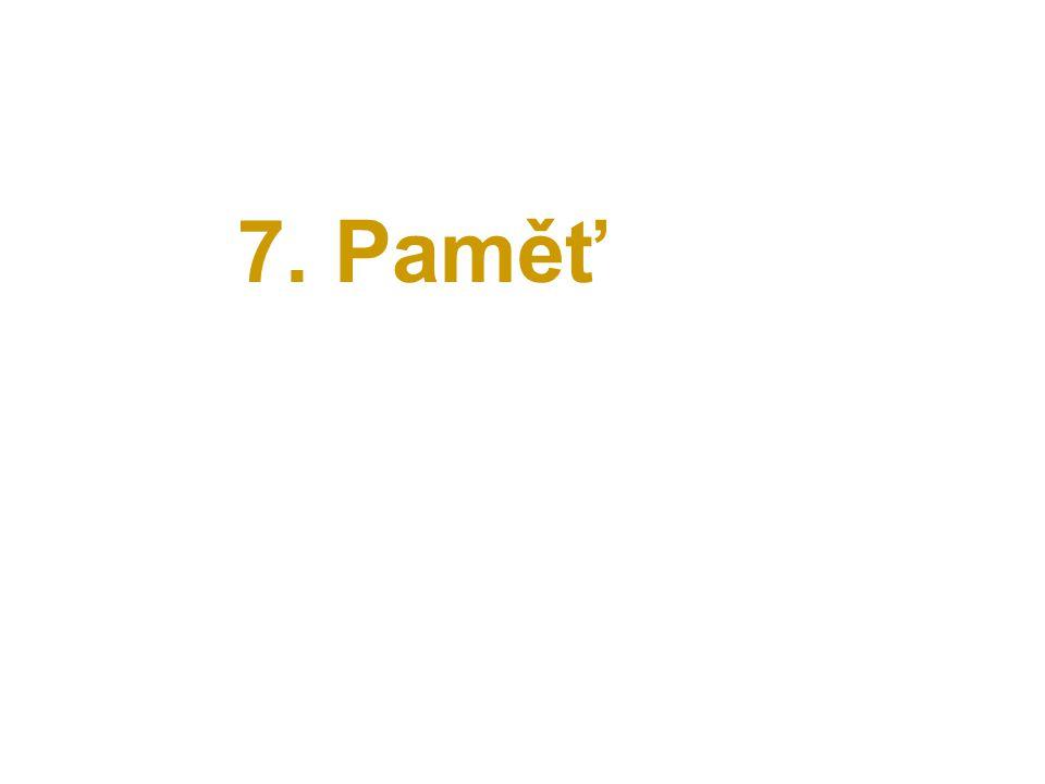 7. Paměť