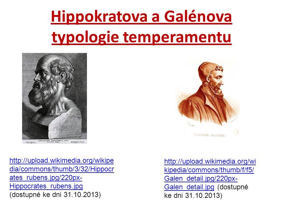 Hippokratova a Galénova typologie temperamentu