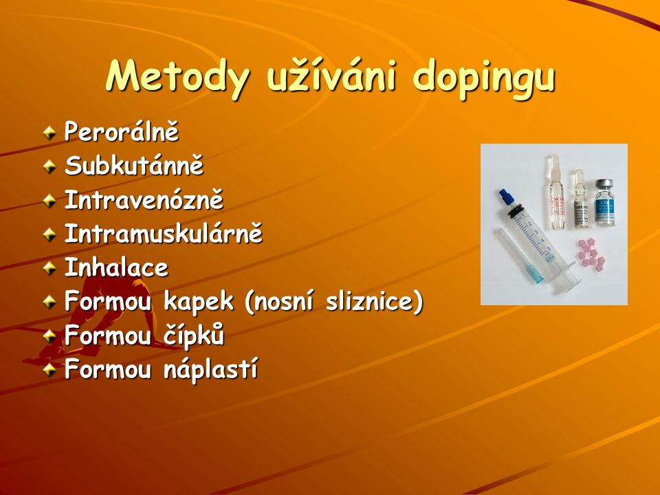 Metody užíváni dopingu