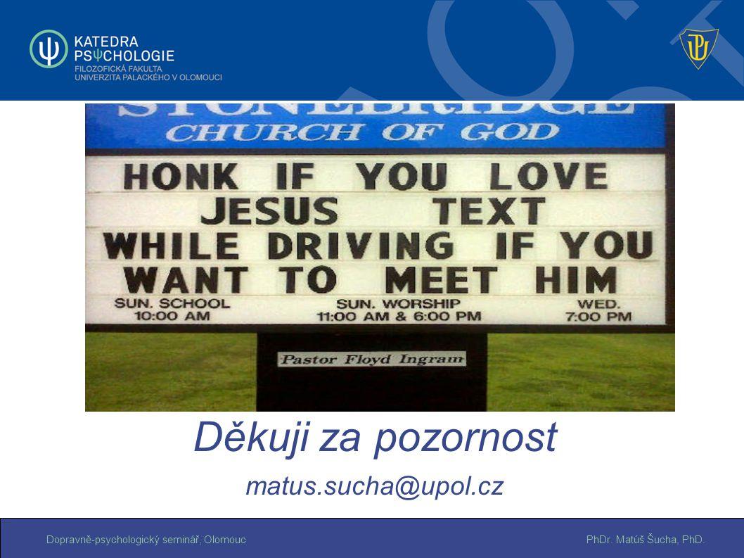 Děkuji za pozornost matus.sucha@upol.cz