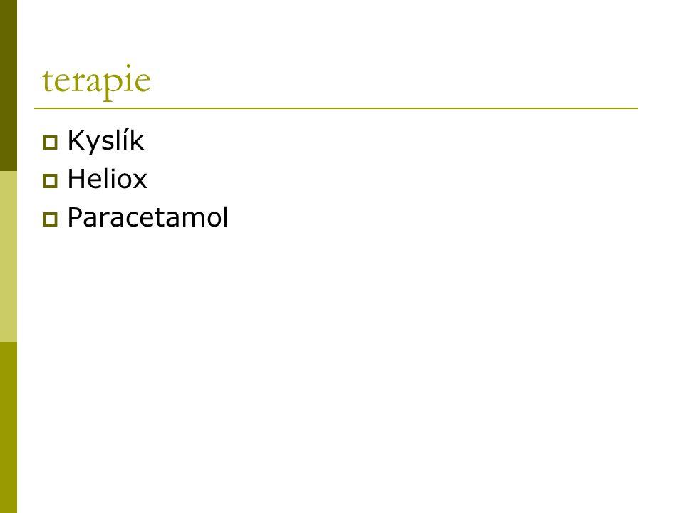 terapie Kyslík Heliox Paracetamol