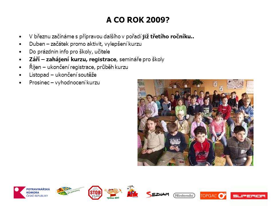 A CO ROK 2009 V březnu začínáme s přípravou dalšího v pořadí již třetího ročníku.. Duben – začátek promo aktivit, vylepšení kurzu.