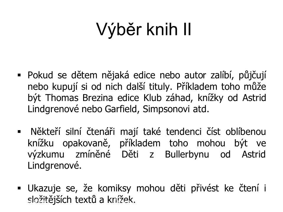 Výběr knih II