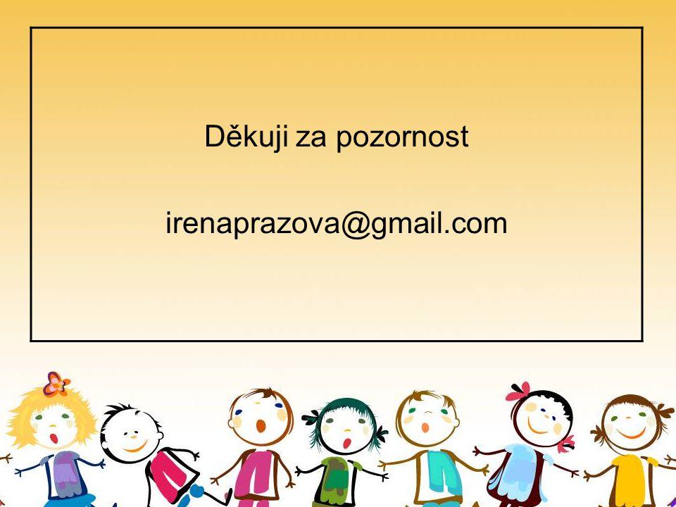 Děkuji za pozornost irenaprazova@gmail.com