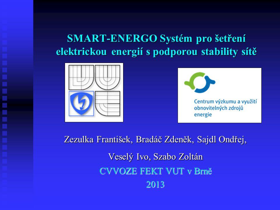 SMART-ENERGO Systém pro šetření elektrickou energií s podporou stability sítě