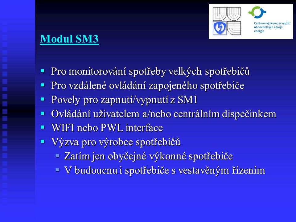 Modul SM3 Pro monitorování spotřeby velkých spotřebičů
