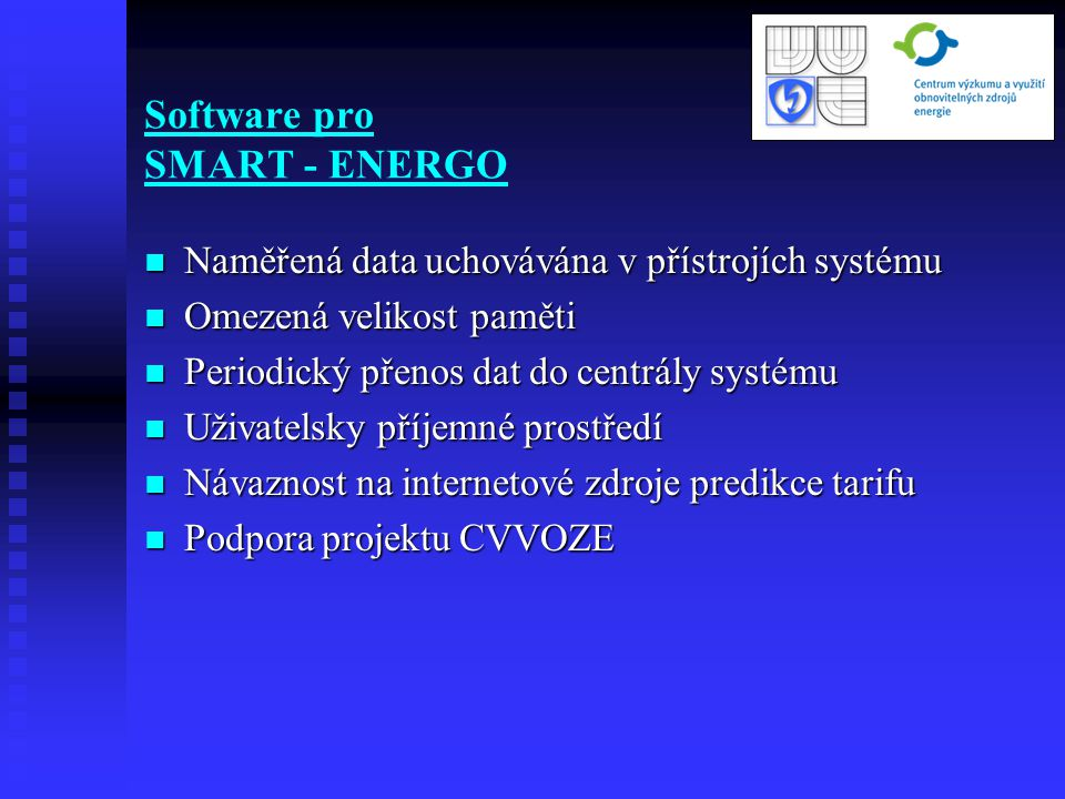 Software pro SMART - ENERGO