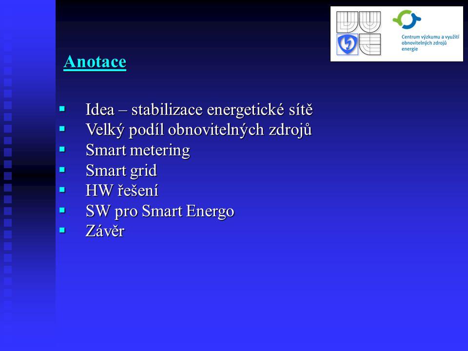 Anotace Idea – stabilizace energetické sítě