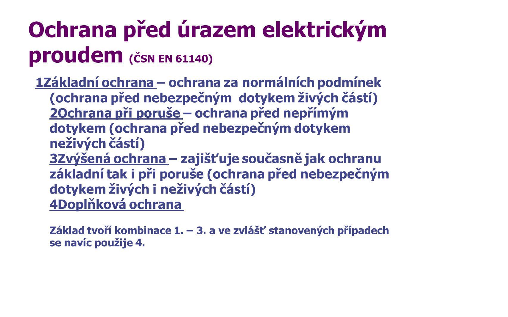 Ochrana před úrazem elektrickým proudem (ČSN EN 61140)