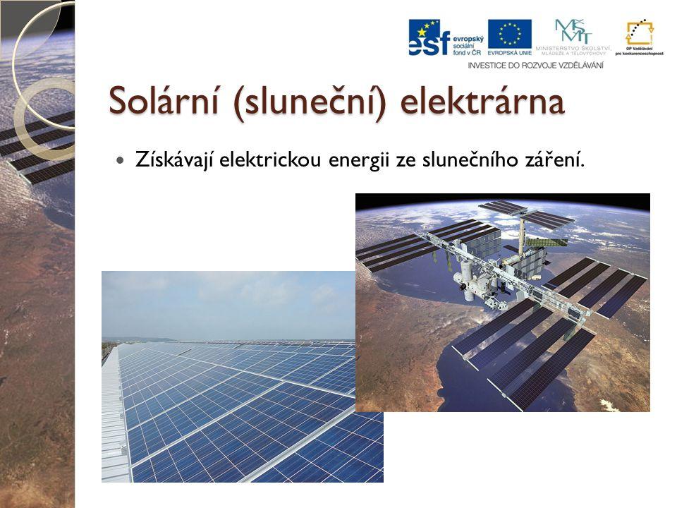 Solární (sluneční) elektrárna