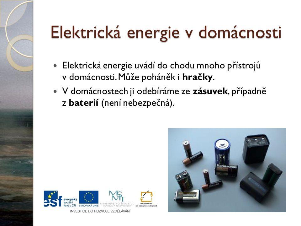 Elektrická energie v domácnosti