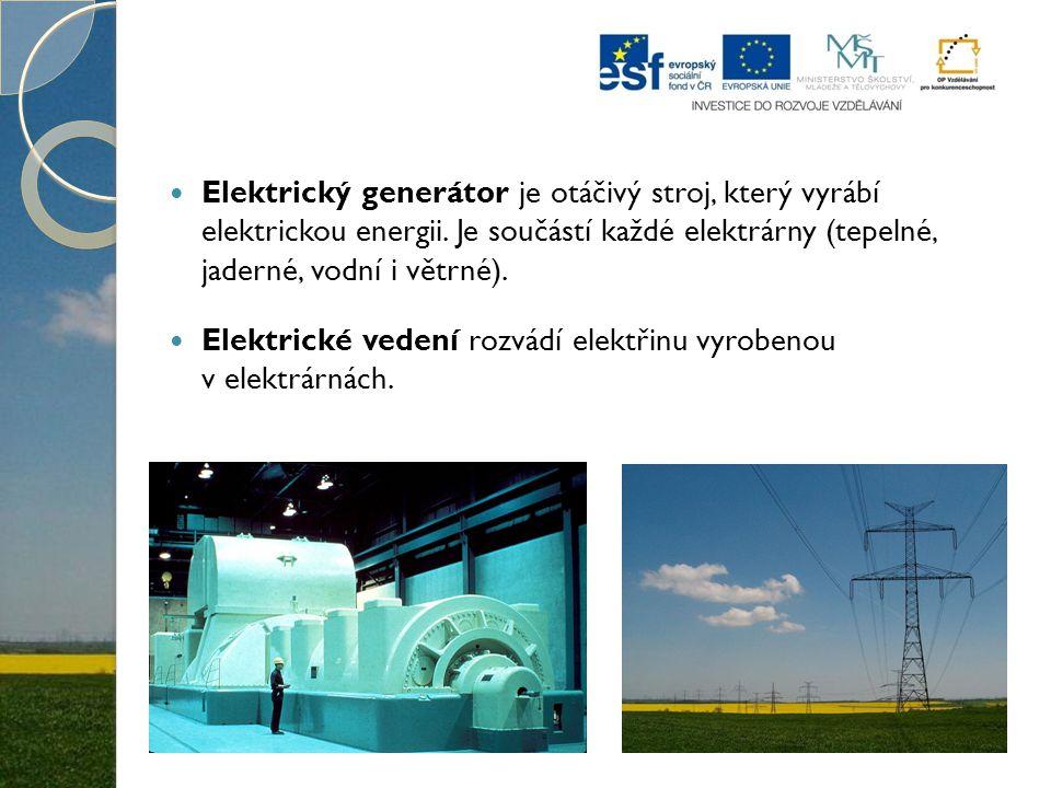 Elektrický generátor je otáčivý stroj, který vyrábí elektrickou energii. Je součástí každé elektrárny (tepelné, jaderné, vodní i větrné).