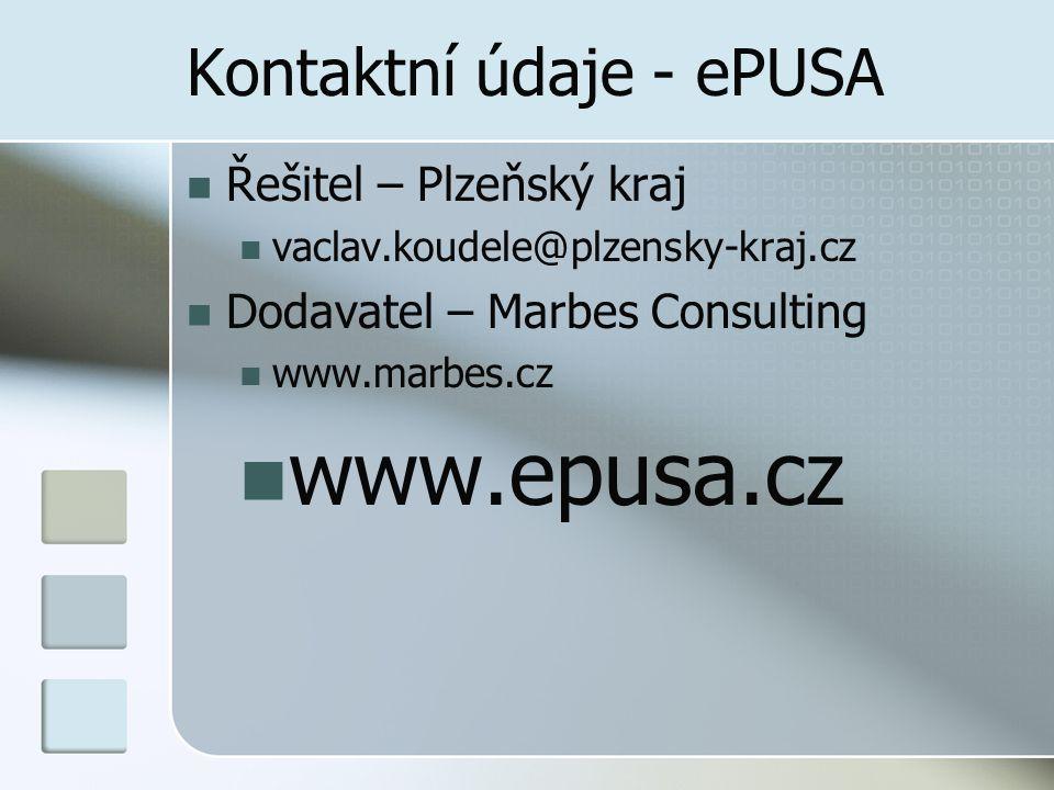 Kontaktní údaje - ePUSA