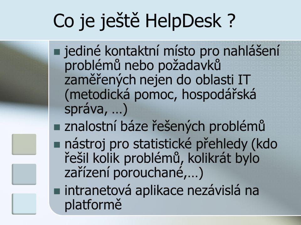 Co je ještě HelpDesk