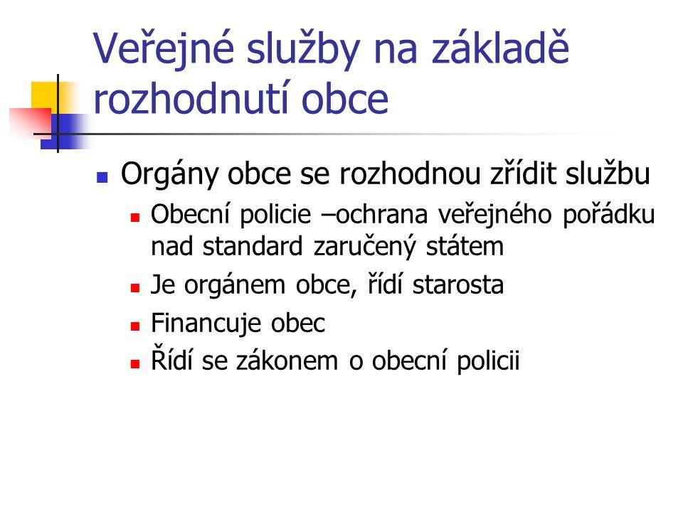 Veřejné služby na základě rozhodnutí obce