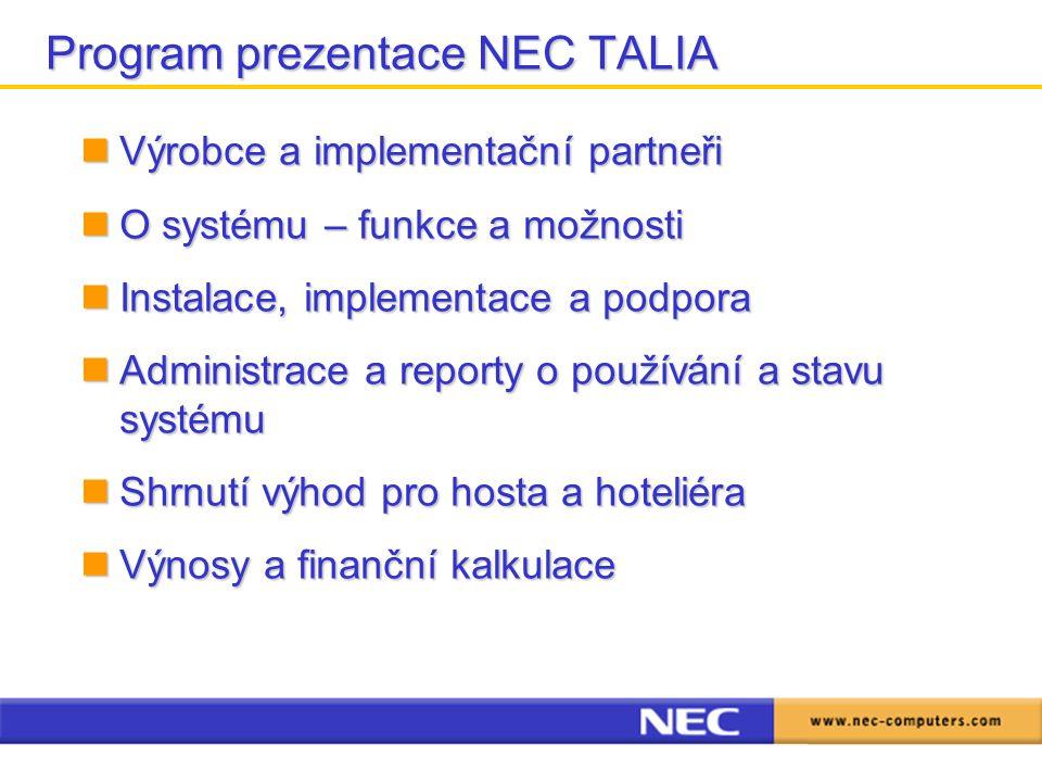 Program prezentace NEC TALIA
