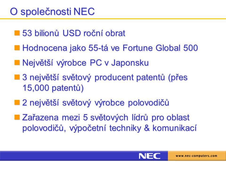 O společnosti NEC 53 bilionů USD roční obrat