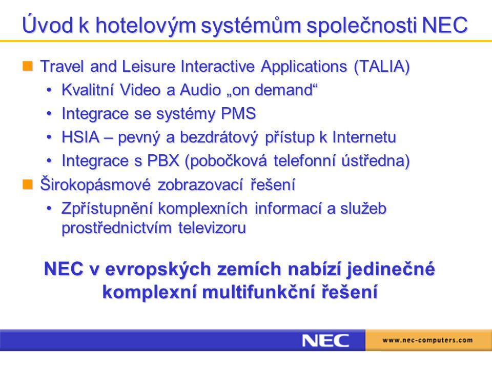 Úvod k hotelovým systémům společnosti NEC