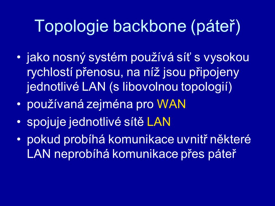 Topologie backbone (páteř)