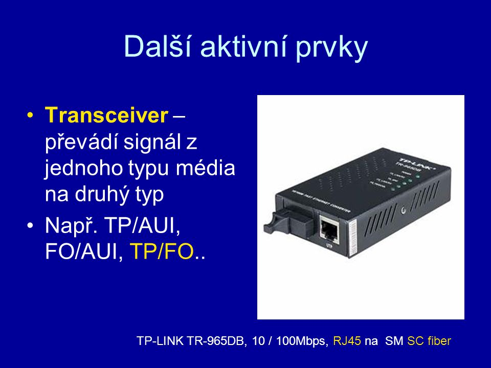 TP-LINK TR-965DB, 10 / 100Mbps, RJ45 na SM SC fiber