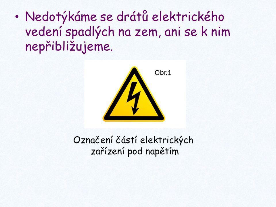 Označení částí elektrických