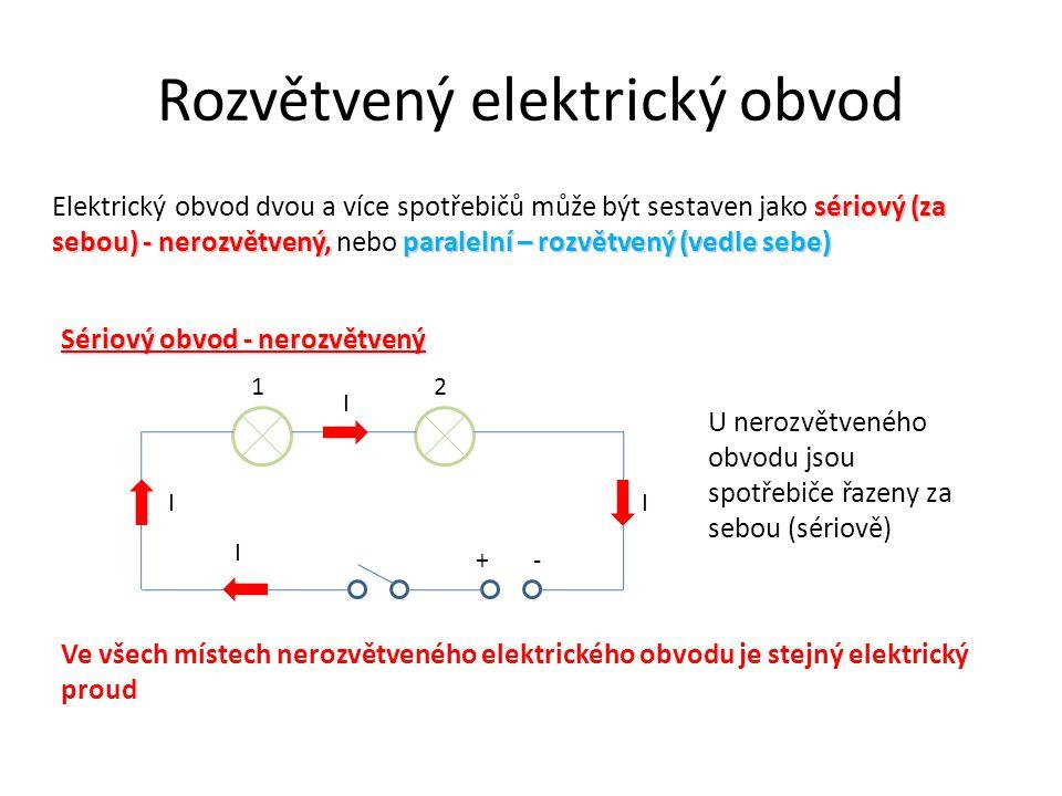 Rozvětvený elektrický obvod