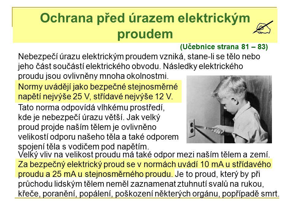 Ochrana před úrazem elektrickým proudem