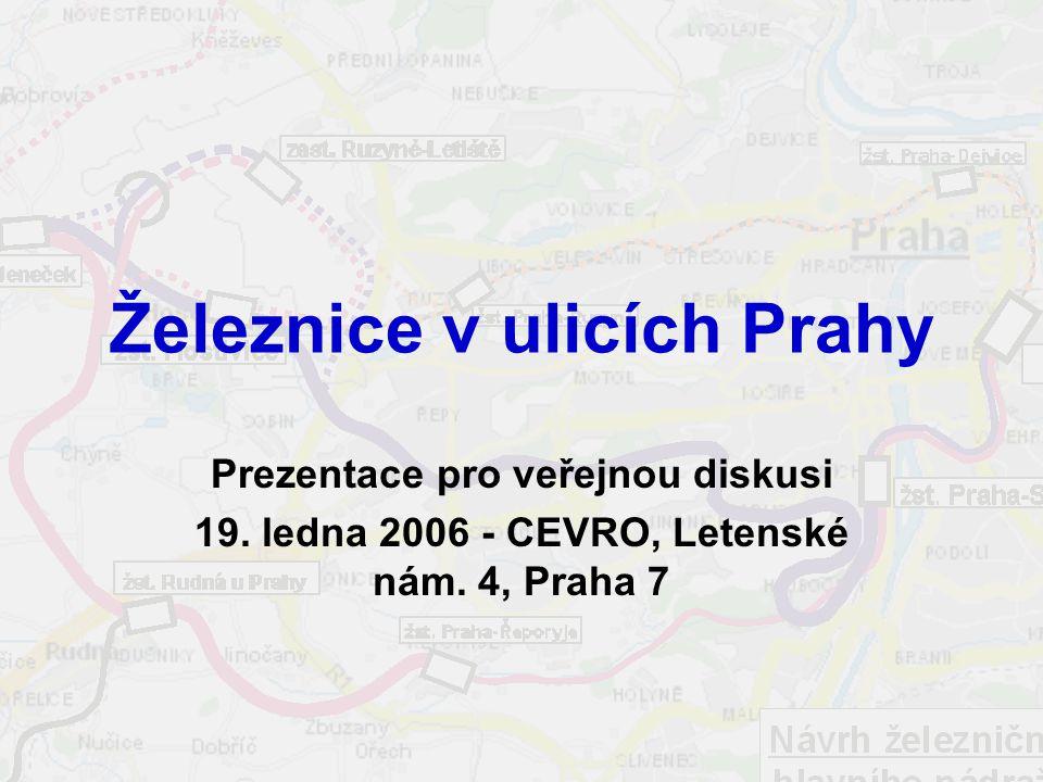 Železnice v ulicích Prahy