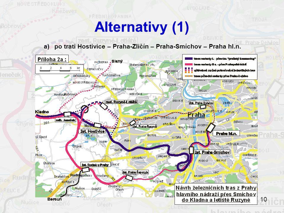 a) po trati Hostivice – Praha-Zličín – Praha-Smíchov – Praha hl.n.