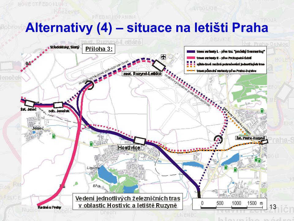 Alternativy (4) – situace na letišti Praha