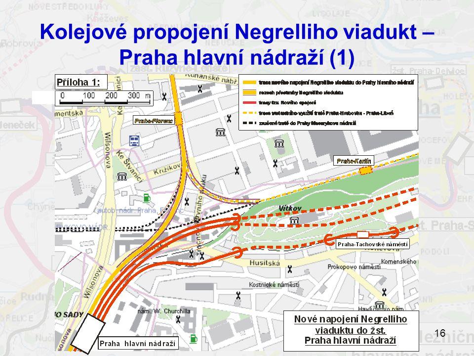 Kolejové propojení Negrelliho viadukt – Praha hlavní nádraží (1)