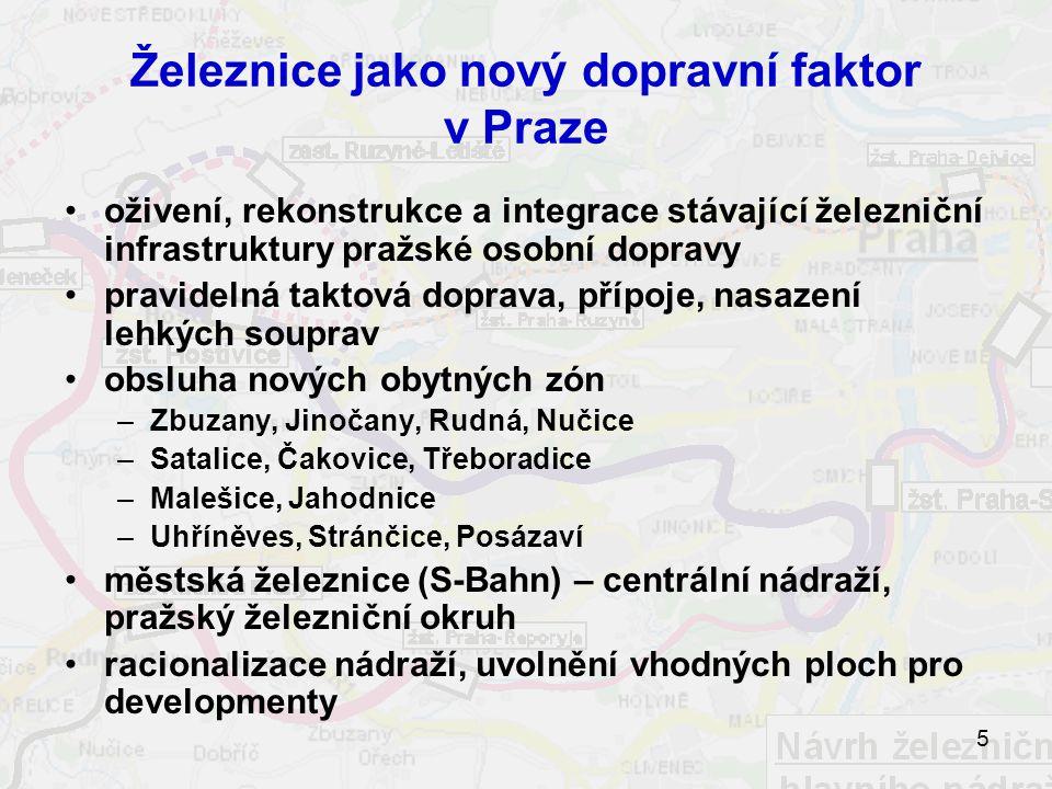 Železnice jako nový dopravní faktor v Praze