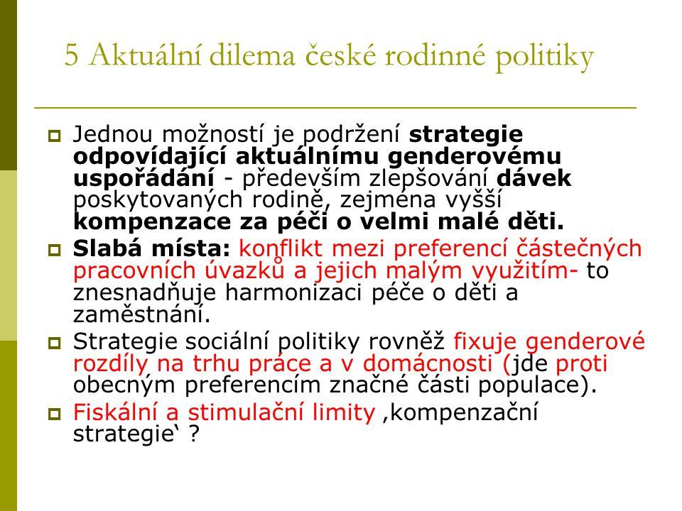 5 Aktuální dilema české rodinné politiky