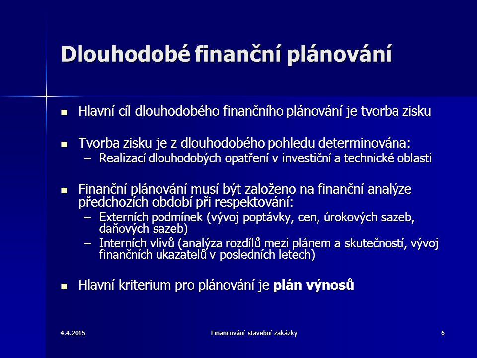 Dlouhodobé finanční plánování