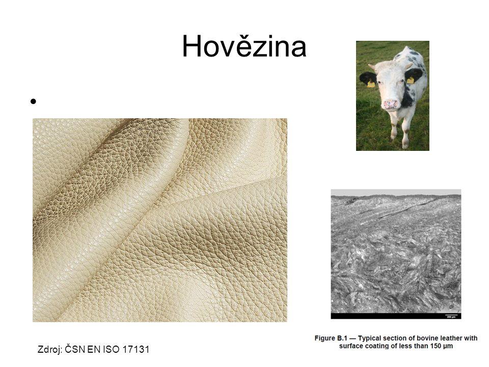 Hovězina Zdroj: ČSN EN ISO 17131