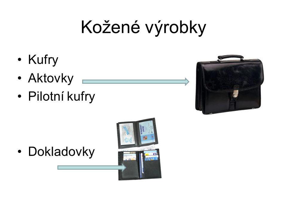 Kožené výrobky Kufry Aktovky Pilotní kufry Dokladovky