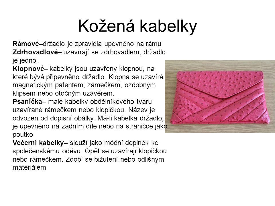 Kožená kabelky Rámové–držadlo je zpravidla upevněno na rámu