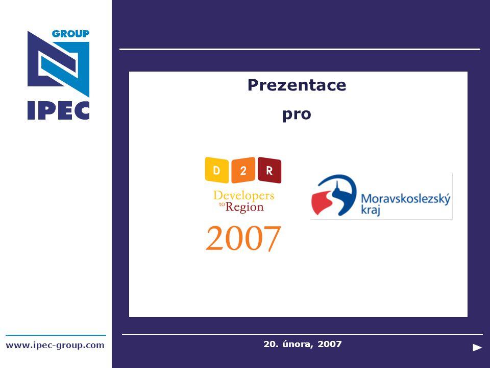 Prezentace pro www.ipec-group.com 20. února, 2007