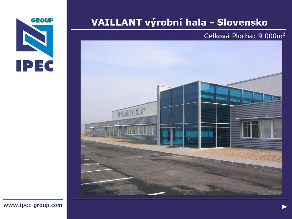 VAILLANT výrobní hala - Slovensko