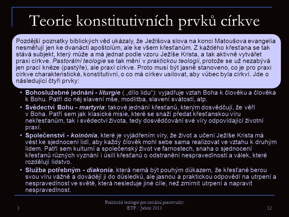 Teorie konstitutivních prvků církve