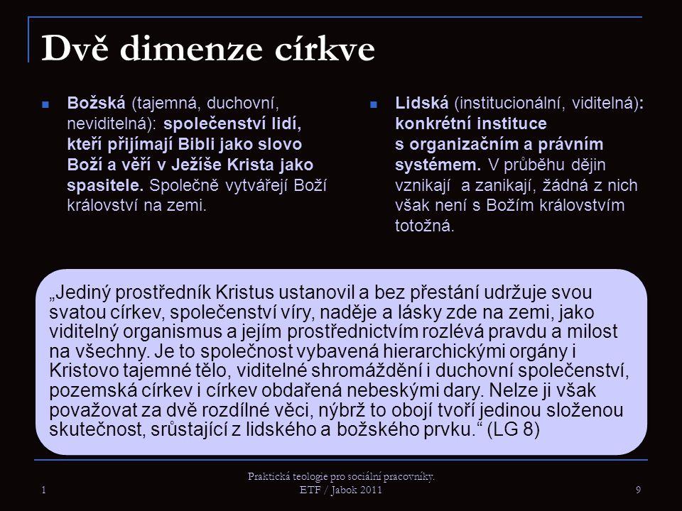 Praktická teologie pro sociální pracovníky. ETF / Jabok 2011