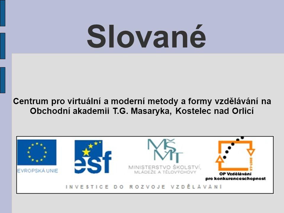 Slované Centrum pro virtuální a moderní metody a formy vzdělávání na