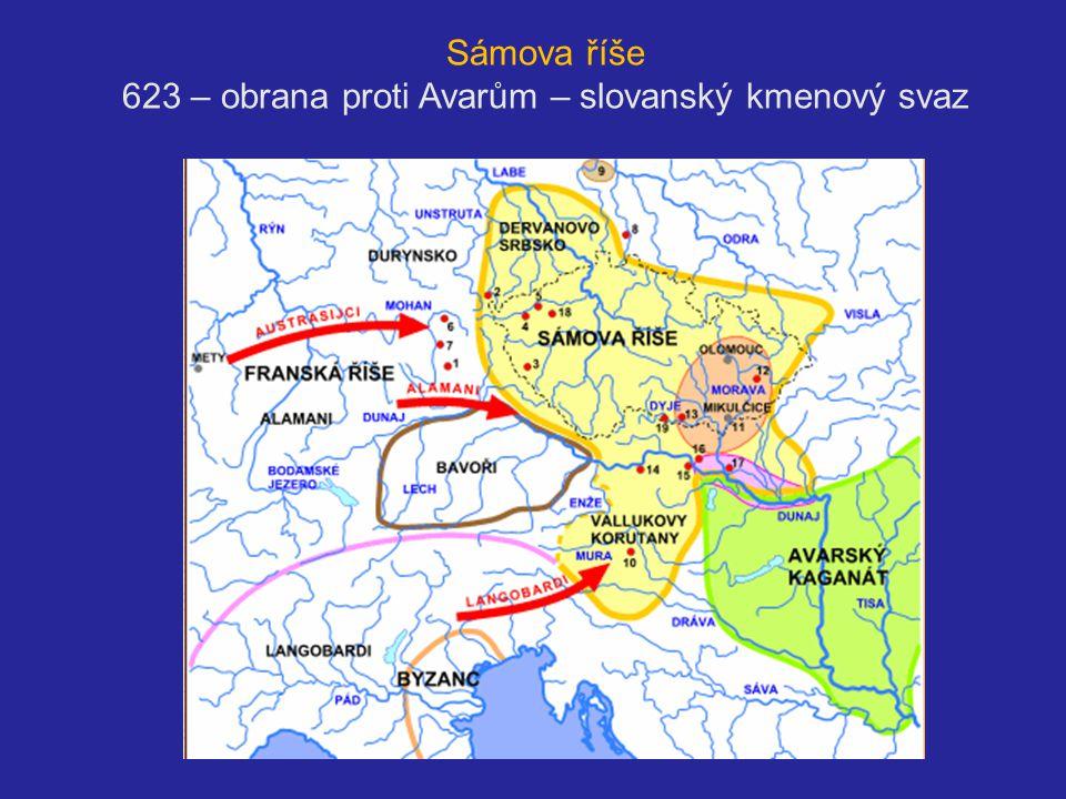 623 – obrana proti Avarům – slovanský kmenový svaz svaz