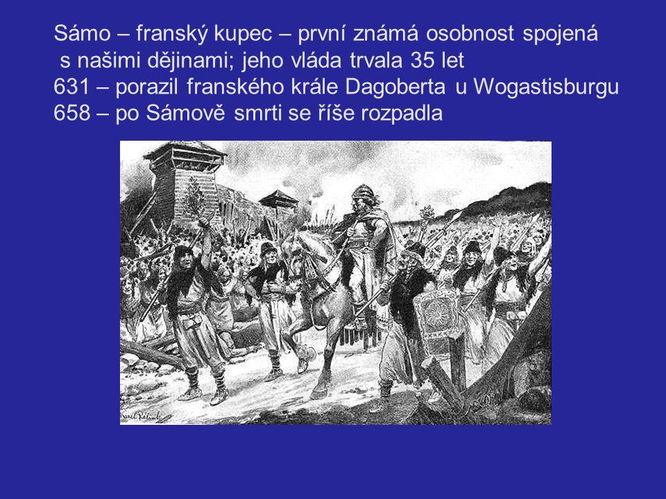 Sámo – franský kupec – první známá osobnost spojená
